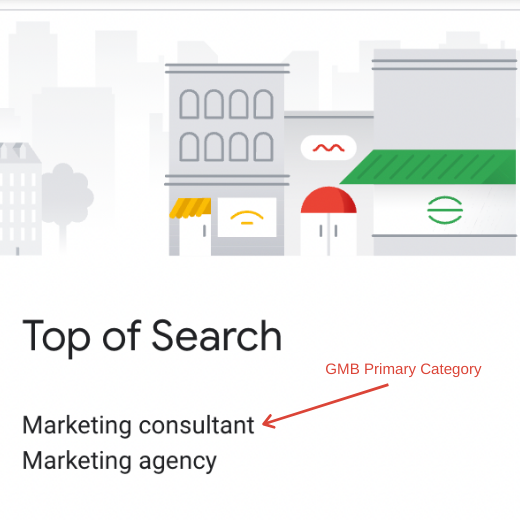 Top of Search GMB Primary Category