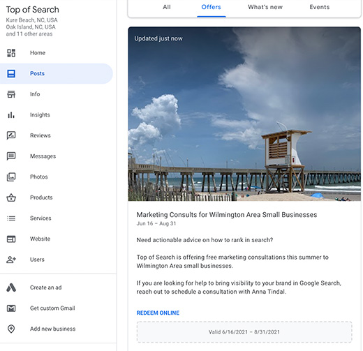 Google My Business Offer